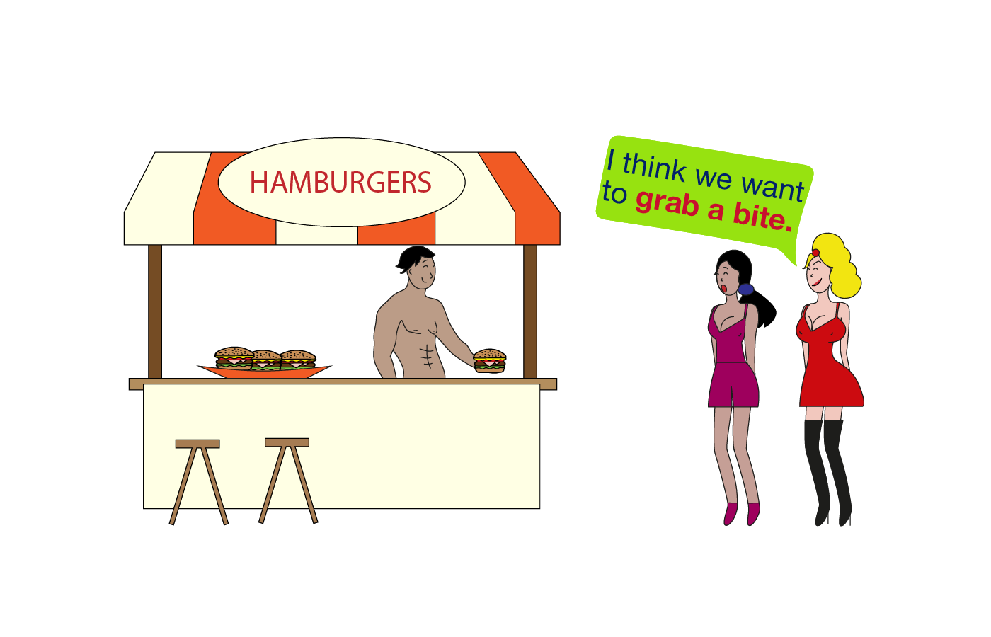Grab a bite idiom meaning